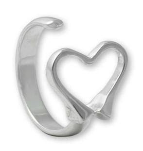 Petite Equestrian Heart Adjustable Ring
