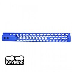 "15"" AIR LITE SERIES 223 556 300 ""HONEYCOMB"" KEYMOD FREE FLOATING HANDGUARD WITH MONOLITHIC TOP RAIL (BLUE)"