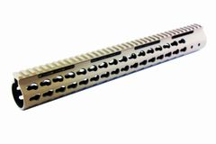 "FDE 15"" ULTRA Super Slim Keymod Rail One Piece Flat Dark Earth handguard TAN 223/556/300BLK"