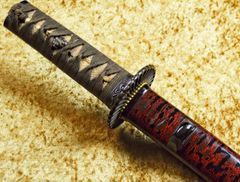 ELEGANT PAPERED TANTO ATTRIBUTED TO SHIMADA YOSHISUKE **REDUCED **
