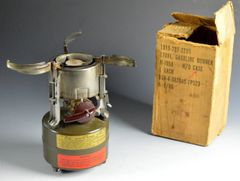 Vietnam Era M-1950 Coleman Squad Stove With Original Box and Wrench Dated 1966 **SOLD**