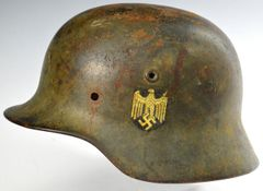 WWII German Camo M-40 Single Decal Heer Helmet Shell **SOLD**