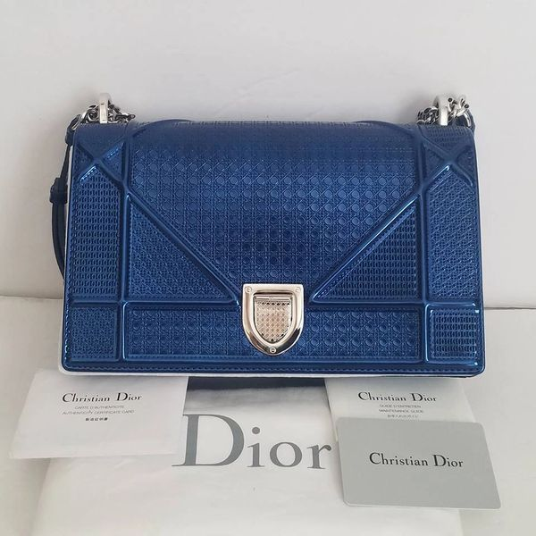 SOLD SOLD  3500 New Dior Diorama Calfskin With Micro-cannage Shoulder Bag 503d673abc