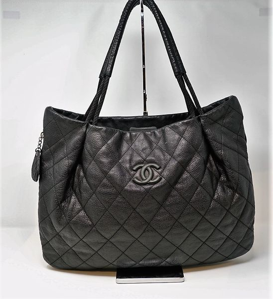 a1c647cf64bc Chanel Black Expandable Tote | Andre Dupree Luxury Designer Handbag ...