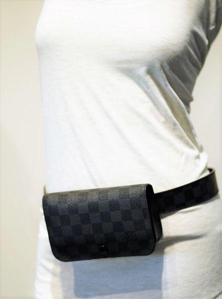935ee80dda74 Louis Vuitton Damier Graphite Belt Bag