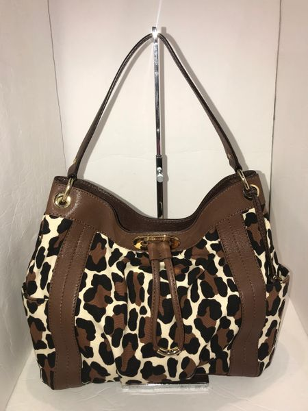 bb04f48dff27 Michael Kors Leopard Print with Brown Leather | Andre Dupree Luxury ...