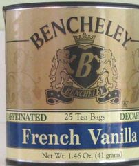 BENCHELEY DECAF FRENCH VANILLA TEA