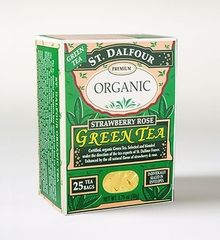 St Dalfour Strawberry Rose Organic Green Tea