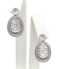 Satin Oval Earrings