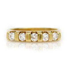 Yellow Gold and Diamond Band-5