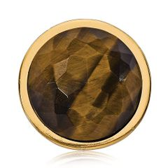 Nikki Lissoni Gold-Tone Small Tiger Eye Coin
