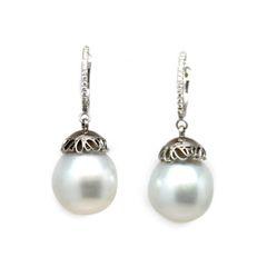 South Sea Pearl Drop Earrings