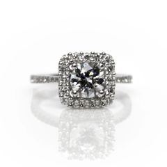 Peter Storm Diamond Halo Semi-Mount Engagement Ring