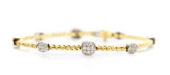 18k Two Tone Pave Diamond Bracelet