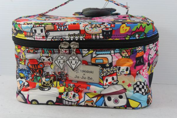 Ju-Ju-Be x Tokidoki Be Ready Makeup Bag in Sushi Cars PLACEMENT B Popcorn Savana