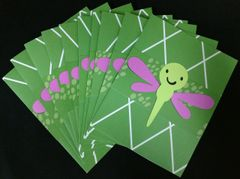 DRAGONFLY GREEN NOTE CARDS