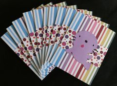SEAL PURPLE NOTE CARDS