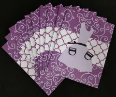 APRON/PURPLE NOTE CARDS