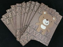 BEAR/LIGHT BROWN NOTE CARDS