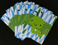 WORM GREEN NOTE CARDS