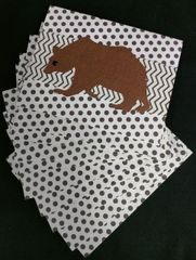 BEAR/BROWN NOTE CARDS