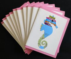 Oahu Seahorse Map Note Cards