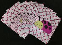 LADYBUG DARK PINK NOTE CARDS