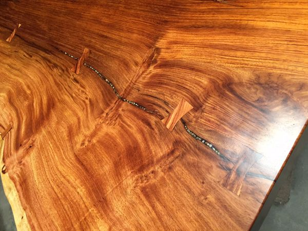 Live Edge Large Maka Dining Table Sequoia Santa Fe