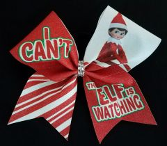 Elf on a Shelf Glitter Cheer Bow