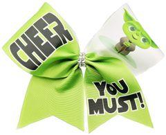 Cheer You Must Yoda Cheer Bow