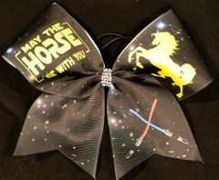 May The Horse Be With You Equestrian Ribbon Bow