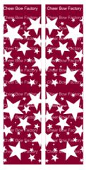 Stars Maroon Cheer Bow Ready to Press Sublimation Graphic