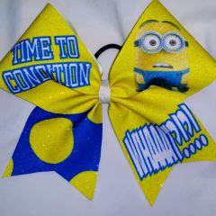 Minion Time To Condition Cheer Bow