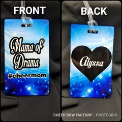 Momma of Drama #cheermom Personalized Bag Tag