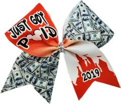 Just Got Paid 2019 Cheer Bow