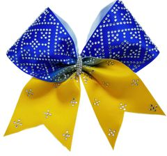 The Lola Satin & Rhinestone Cheer Bow