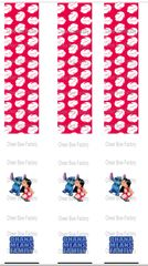 Lilo and Stitch Keychain Sublimation Cheer Bow Graphic