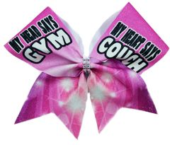 My Head Says Gym My Heart Says Couch Cheer Bow