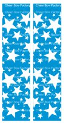 Stars Turquoise Cheer Bow Ready to Press Sublimation Graphic