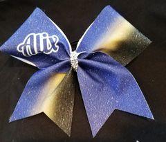 Alix Ombre Glitter Cheer Bow