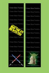 May the 4th Be With You Star Wars Cheer Bow Ready to Press Sublimation Graphic
