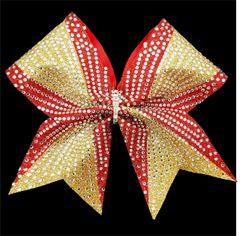 The Tara Glitter Rhinestone Cheer Bow - All Colors
