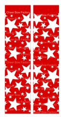 Stars Red Ready to Press Sublimation Graphic