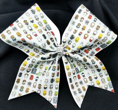 Star Wars Emoji Glitter Cheer Bow