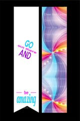Go Out There and Be Amazing Cheer Bow Ready to Press Sublimation Graphic