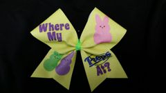 Where My Peeps At Cheer Bow