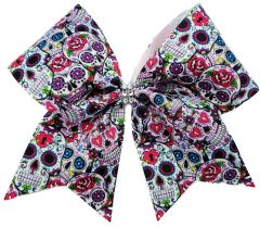 Sugar Skulls Cheer Bow