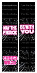 Cheer Wars May The Fierce Be With You Cheer Bow Ready to Press Sublimation Graphic