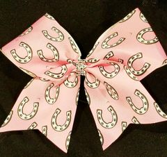 Horseshoe Equestrian Ribbon Bow