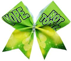 Nope. Not Today. Cheer Bow